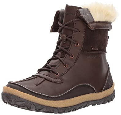 Merrell Tremblant Mid Polar Waterproof, Chaussures de Randonnée Hautes Femme, (Black), 42.5 EU