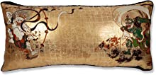 The Japan 風神雷神図 西陣 ビッグクッション 76×36×5cm 中材付