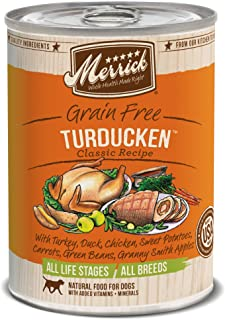 product image for Merrick Classic Grain Free Turducken Wet Dog Food, 13.2 Oz, Case Of 12 Cans