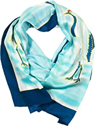 TexereSilk Women s 100% Silk Hand Painted Designer Scarf - Gift for Her  AS0055 41bd20ff7