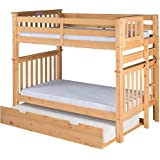 Amazon Com Oeuf Perch Bunk Bed In White Birch Kitchen