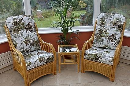 Mueble de caña y mimbre modelo Sorrento para invernadero o sala de estar - Duo Set
