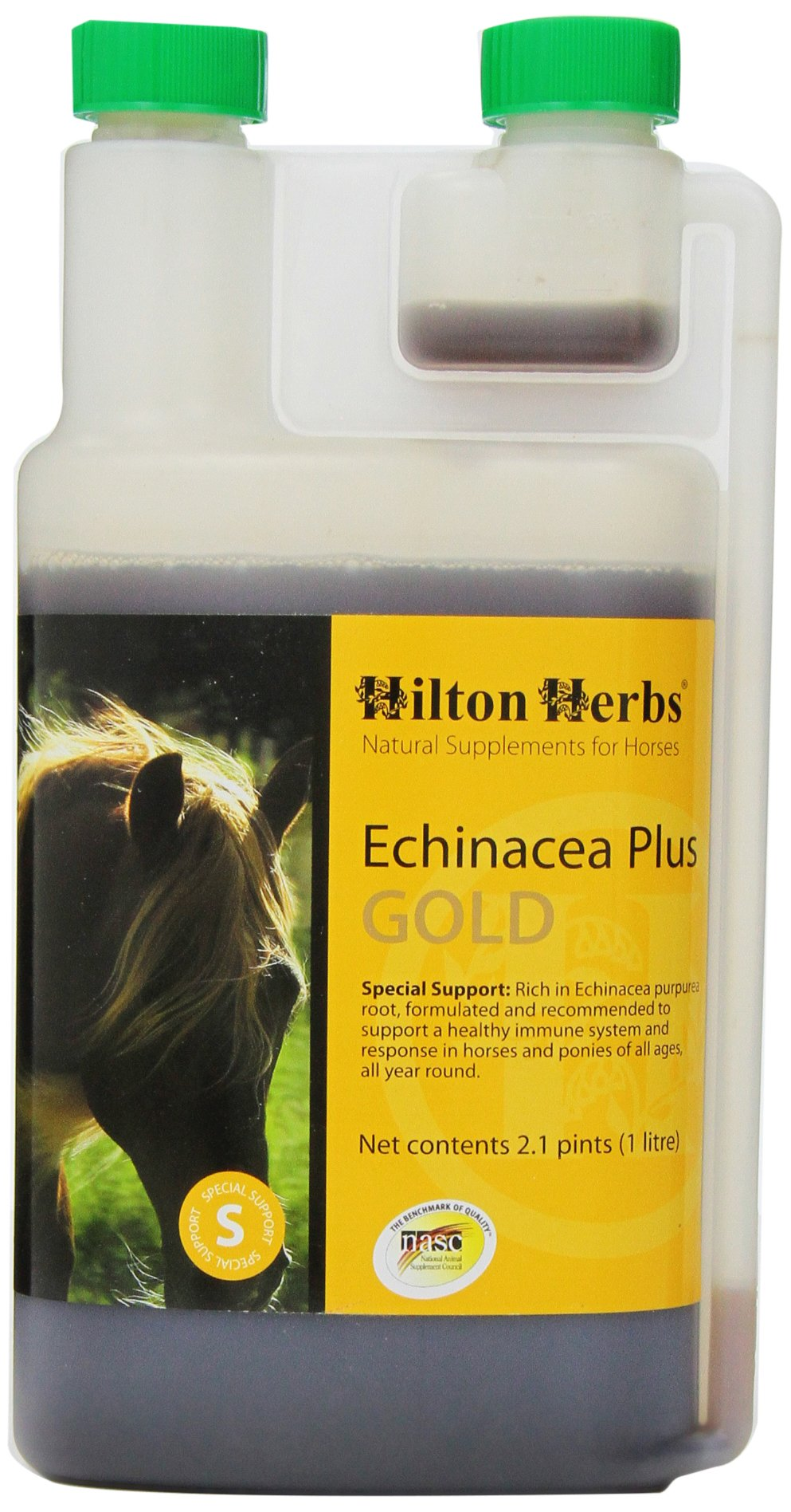 Hilton Herbs Echinacea Plus Gold Liquid Herbal Immunity Supplement for Horses, 2.1pt Bottle