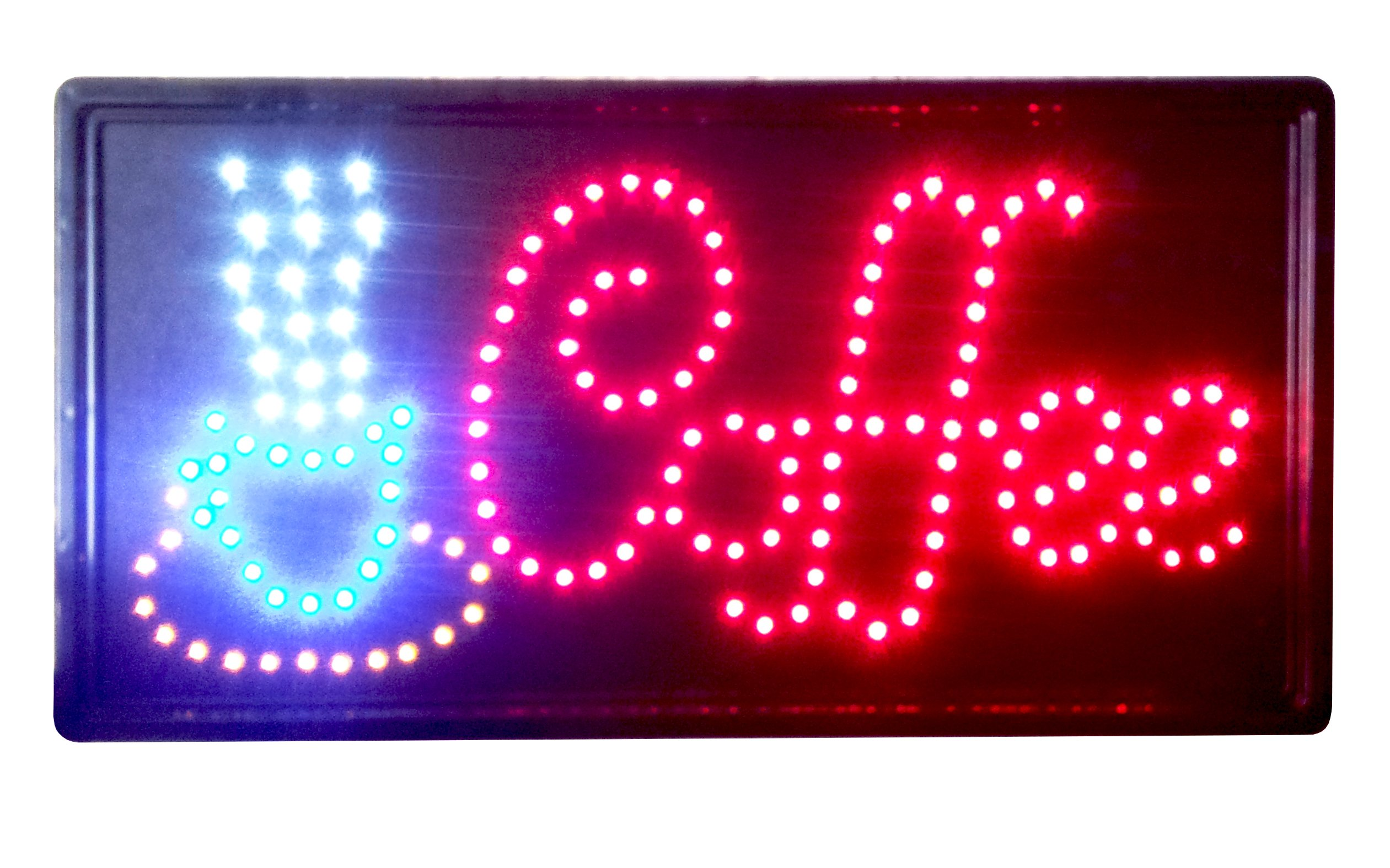 Animated LED Neon Light Coffee Sign with On/Off Switch and Chain 19'' x 10''