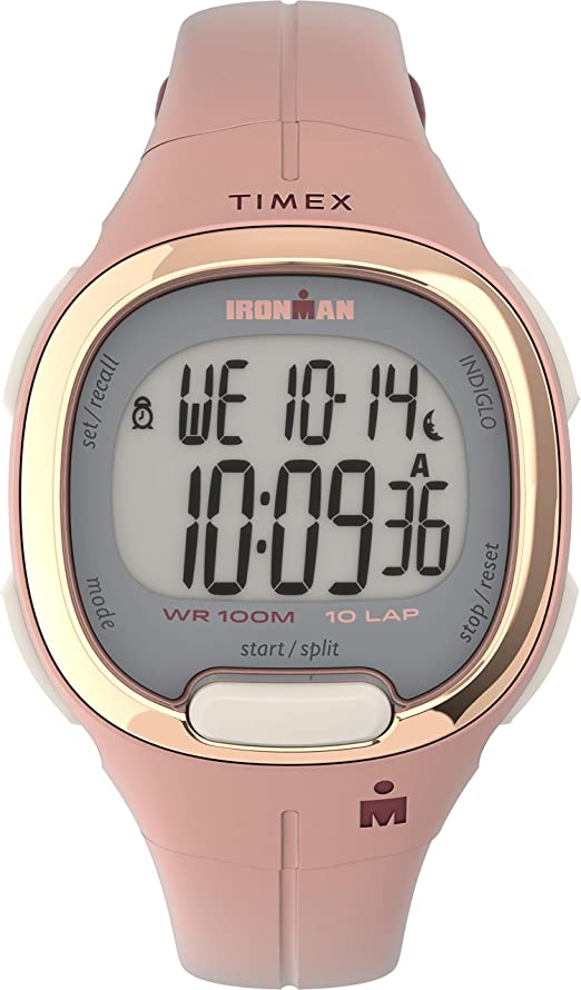 Amazon.com: Timex Women's TW5M35000 Ironman Transit 33mm Pink/Rose  Gold-Tone Resin Strap Watch: Watches