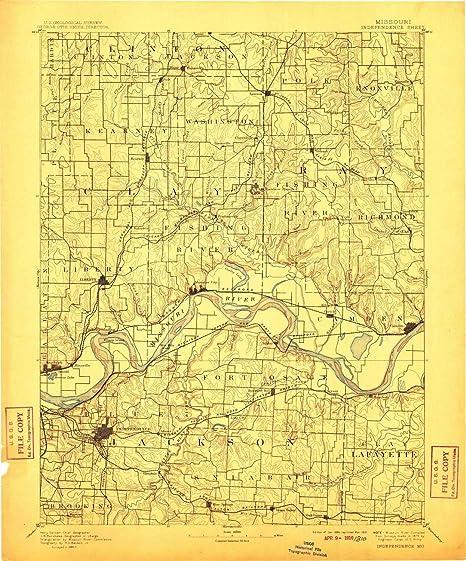 Amazon Com Yellowmaps Independence Mo Topo Map 1 125000 Scale 30