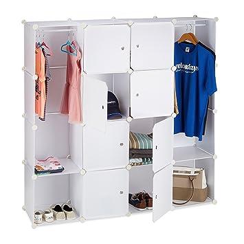 Relaxdays Kleiderschrank Stecksystem mit 12 Fächern, großer ...