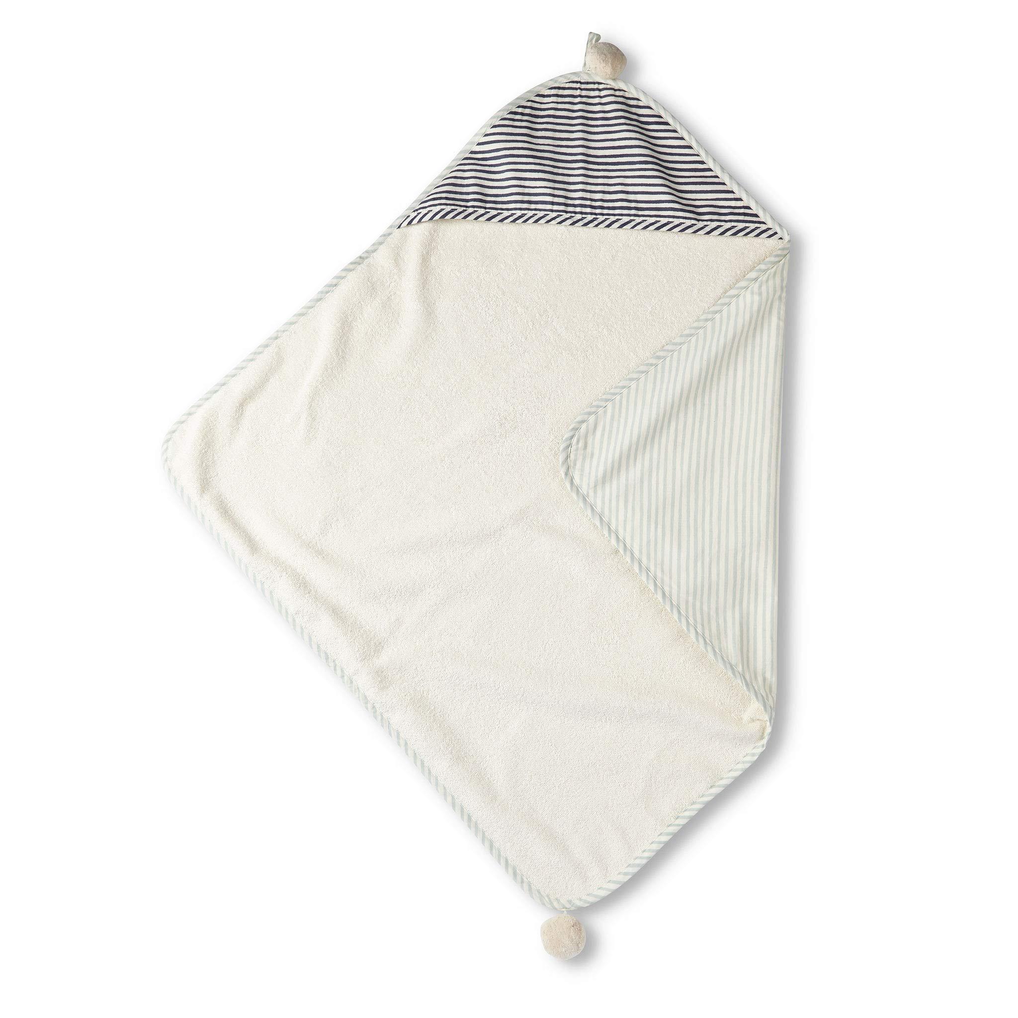 Pehr Stripes Away Hooded Towel - Sea, Multi by PEHR