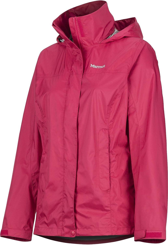 Marmot Wm's Precip Eco Jacket Veste de Pluie Hardshell, Ultra-léger, Coupe-Vent, imperméable à l'eau, Respirante Femme disco pink