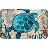Sea Turtle Toilet Tank Topper Nautical Bathroom Vanity Accessory Item #610 Seaside Bathroom Decoration Small Table Runner for Kitchen