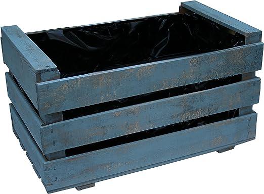Caja de fruta antigua, jardinera de madera 50x30x27 cm VINTAGEBOX ...