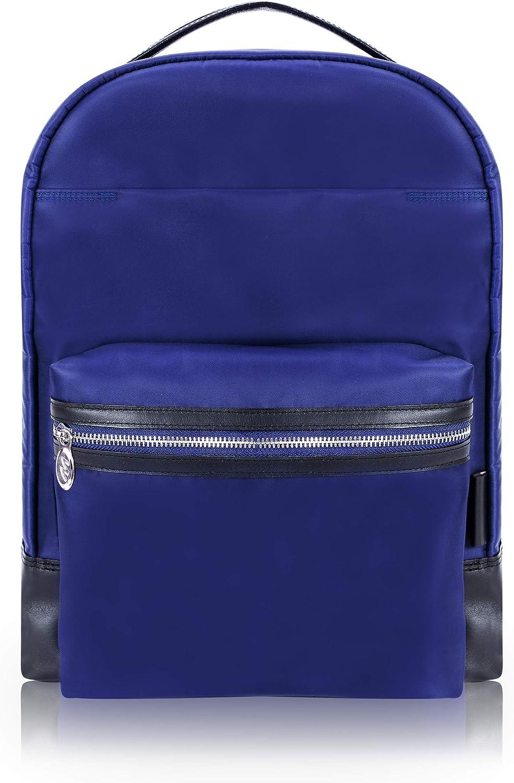 18555 N Series Nano Tech-Light Nylon with Leather Trim McKlein Black Parker 15 Nylon Dual Compartment Laptop Backpack