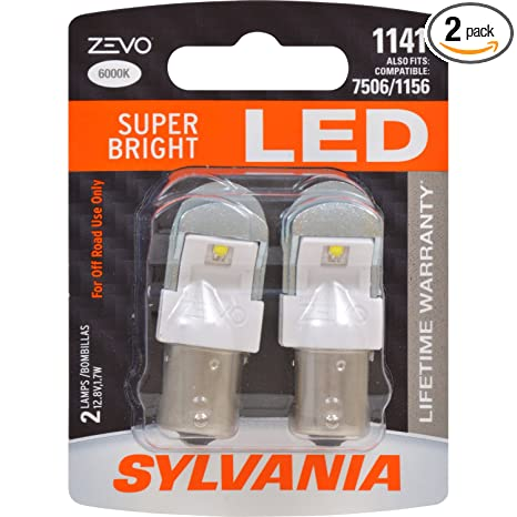 Amazon.com: SYLVANIA - 1141 ZEVO LED White Bulb - Bright LED Bulb, Ideal for Daytime Running Lights (DRL) and Back-Up/Reverse Lights (Contains 2 Bulbs): ...