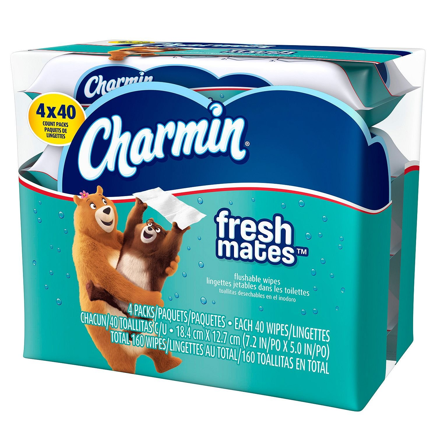Amazon.com: Product of Charmin Freshmates Flushable Wet Wipes (4pk, 40ct. refills) - Toilet Paper [Bulk Savings]