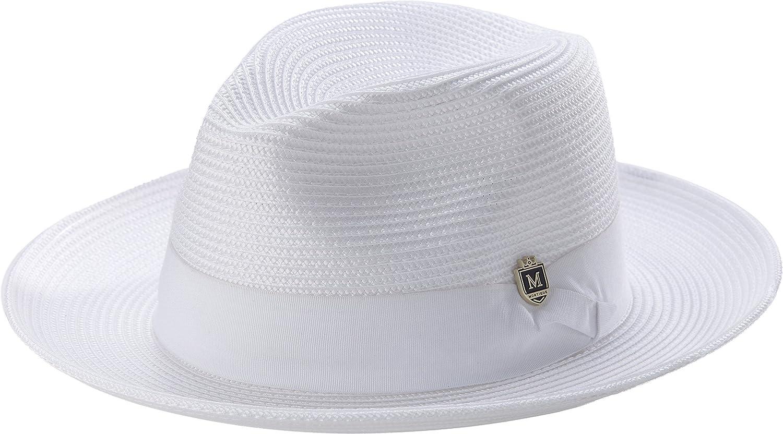 9b5b15f043f MONTIQUE Men s Wide Snap Brim Pinch Fedora at Amazon Men s Clothing store