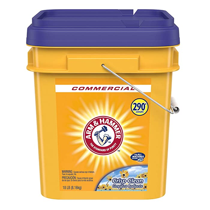 Arm & Hammer 33200-01001 Powder Laundry Detergent, Crisp Clean, 18lb Pail