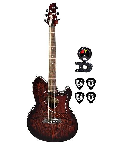 Amazon Com Ibanez Talman Tcm50 6 String Cutaway Acoustic Electric