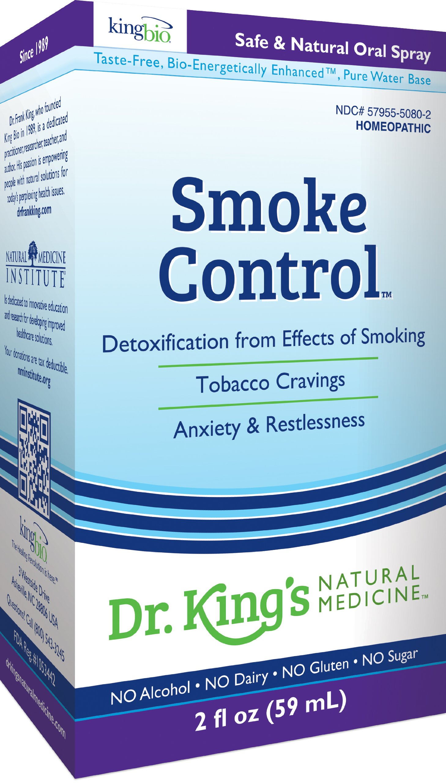 Dr. King's Natural Medicine Smoke Control, 2 Fluid Ounce