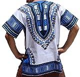 RaanPahMuang Unisex Bright Africa White Dashiki