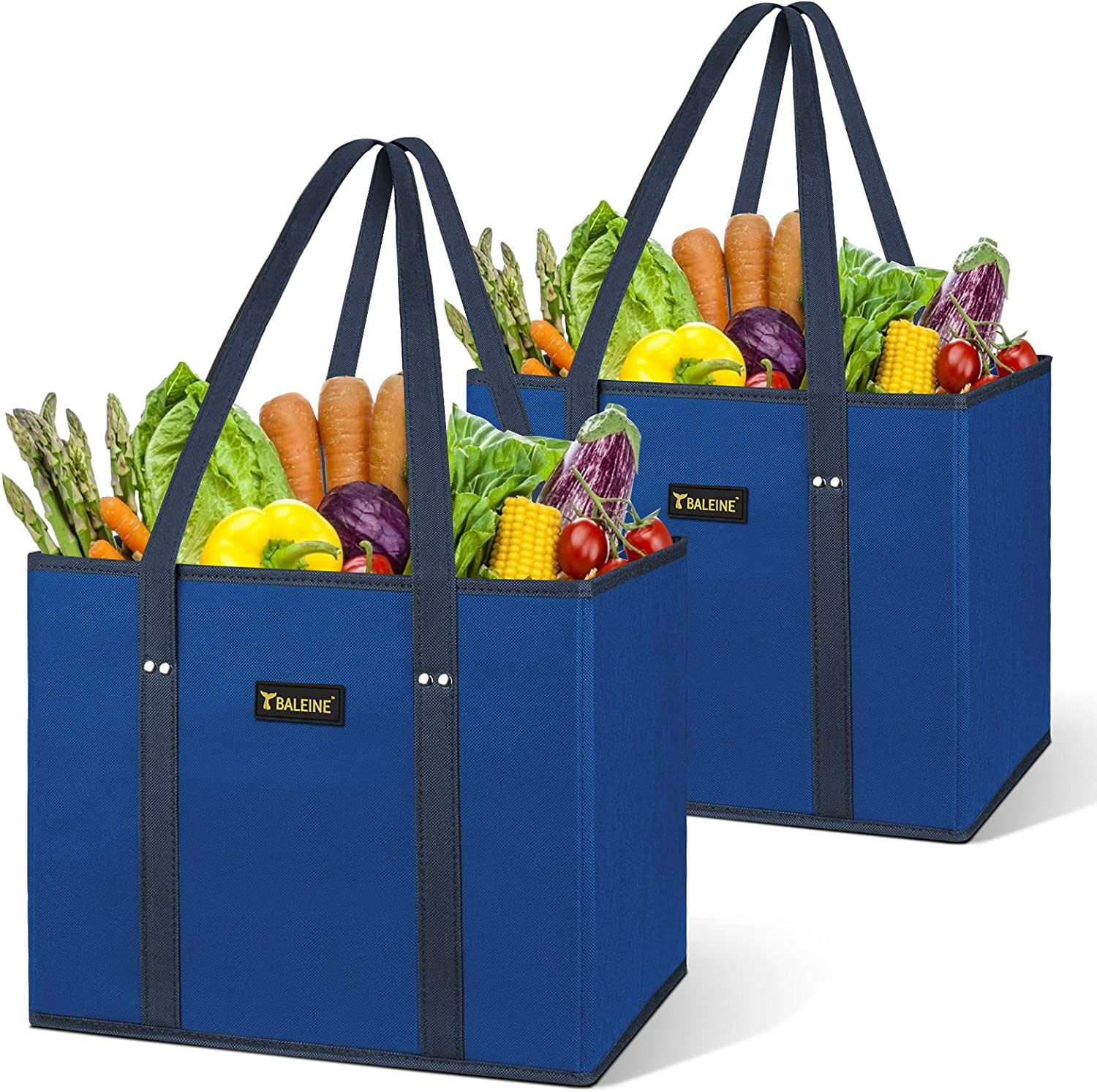 BALEINE 2 Pack Reusable Grocery Reinforce Bags Shopping with It is very popular Bag famous