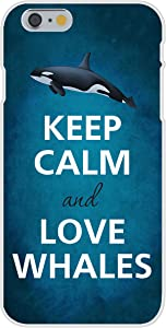 Apple iPhone 6 Custom Case White Plastic Snap On - Keep Calm and Love Whales Killer Orca