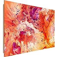 Feeby Quadro Moderno Astratto - XXL - 1 Parte - Stampa su Tela - Orange Viola Azzurro