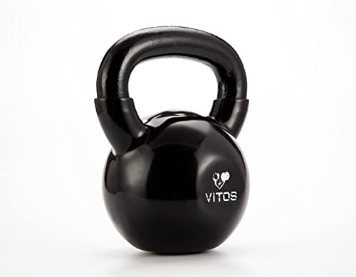 Vitos Fitness Vinyl Coated Kettlebell Weights Available from 5 to 50 LB