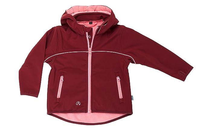 online store ca0f5 c549a Elka Kinder Softshell Jacke 3-lagig für Kinder mit Kapuze und Fleecefutter,  warm, wasserabweisend, Winddicht, atmungsaktiv