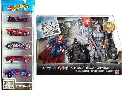 HOT WHEELS  2017 JUSTICE LEAGUE 5-PACK* Batman,Superman,Wonder Woman,The Flash
