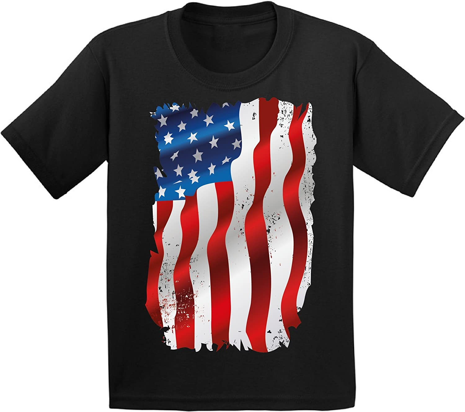 American Flag distressed Heart 4th of July T-shirt USA Pride Shirt Toddler Youth