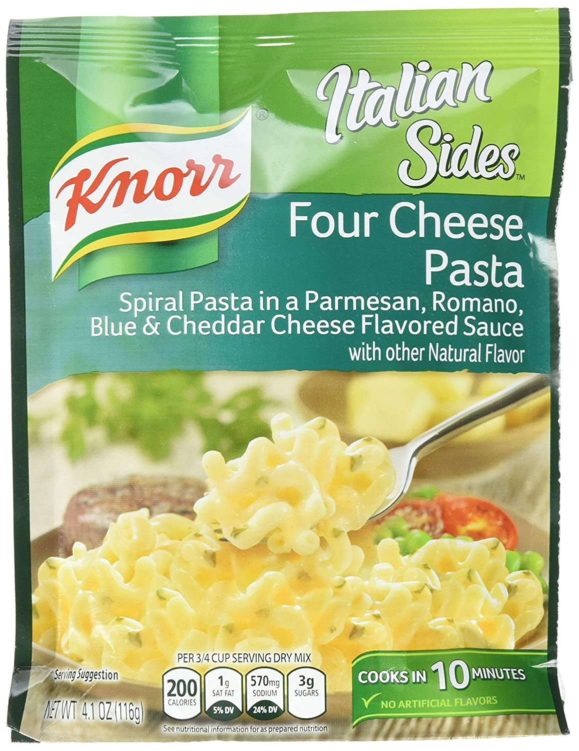 Knorr Side Dish, Four Cheese Pasta, 4.09 Ounce (Pack of 4)