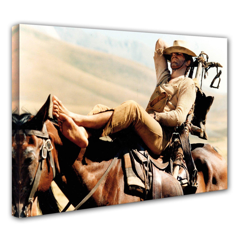 Terence Hill Bud Spencer Vier Fäuste für ein Halleluja - Leinwand (120 x 80 cm)