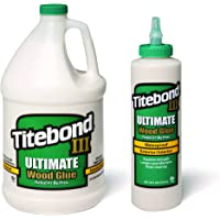 Titebond Iii Ultimate Wood Glue 1 GALLON Titebond III Ultimate Wood Glue, 16-Ounce