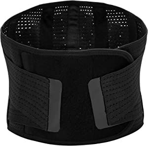 Lumbar Support Back Brace, Breathable Mesh Five Steels Plate Protection, Back Waist Support Belt for Man and Woman(Plus Size) (XXL)