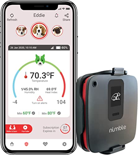 RV Dog Safety Temperature Humidity Sensor 4G Verizon Cellular – No WiFi Required Wireless Remote Pet Temp Monitor with 24 7 Email SMS Alerts – Free iPhone Android App