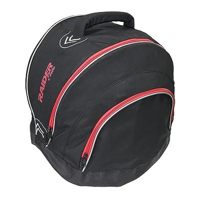 Raider Elite Motorcycle Helmet Bag Storage Fleece Lined Zip Up Black - Waterproof Shell: Automotive