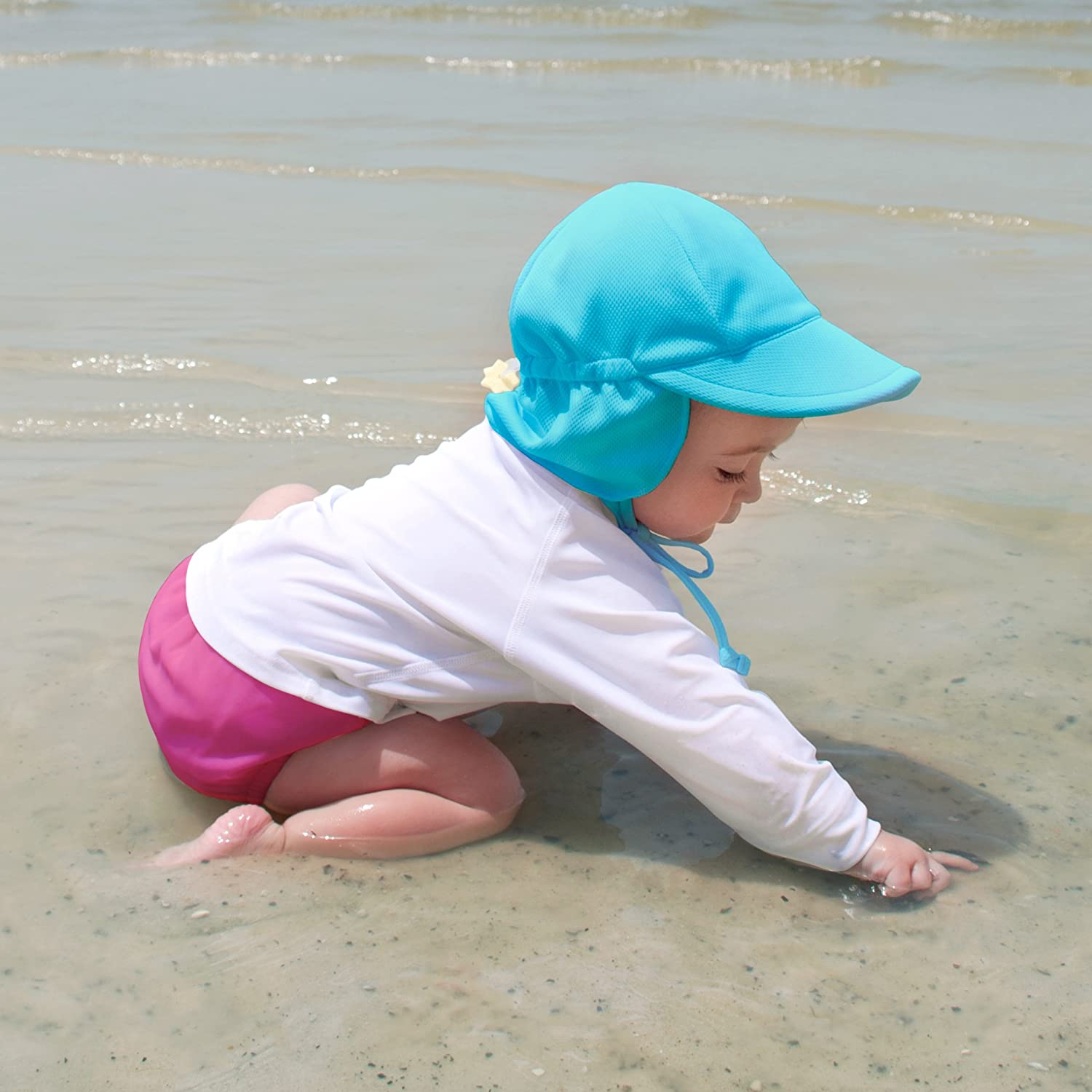 i play Breathable Swim /& Sun Flap Hat UPF 50+ sun protection-wet or dry All-day
