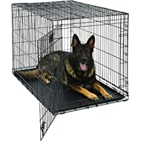 XL Dog Crate | MidWest Life Stages Folding Metal Dog Crate | Divider Panel, Floor Protecting Feet,…