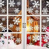 GOEU Fensterbilder Schneeflocken