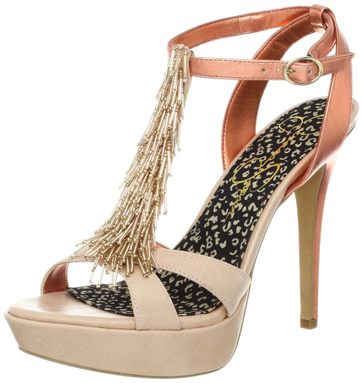 Jessica Simpson Women's Bennies Platform Sandal B008X3ONPO 9.5 B(M) US|Pale Pink