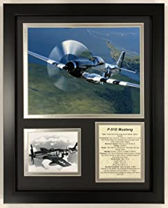 "Legends Never Die P-51 Mustang - Framed 12""x15"" Double Matted Photos"