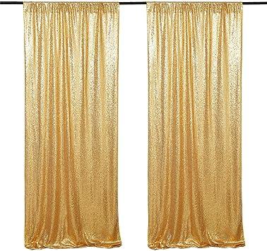TRLYC 4 by 8Ft Black Wedding Sequin Curtain Bakcdrop Photo Studio Backgrounds Sequin Fabric