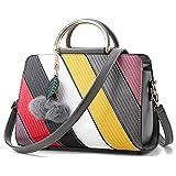 BYD - Pell Donna Handbag borsa a Spalla Borse a mano Tote Bag Shoulder Bag con maniglia in metallo