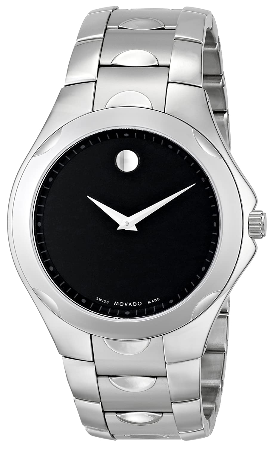 watch watches stainless luno youtube dial bracelet round silver review men steel s sport movado