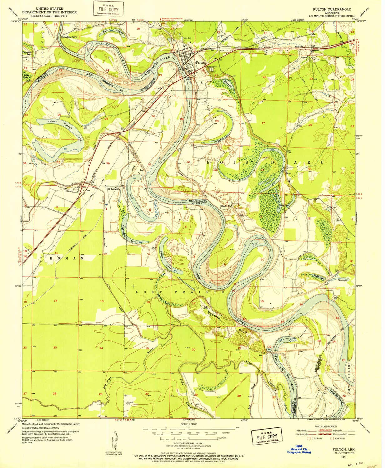 Ark Elevation Map.Amazon Com Yellowmaps Fulton Ar Topo Map 1 24000 Scale 7 5 X 7 5