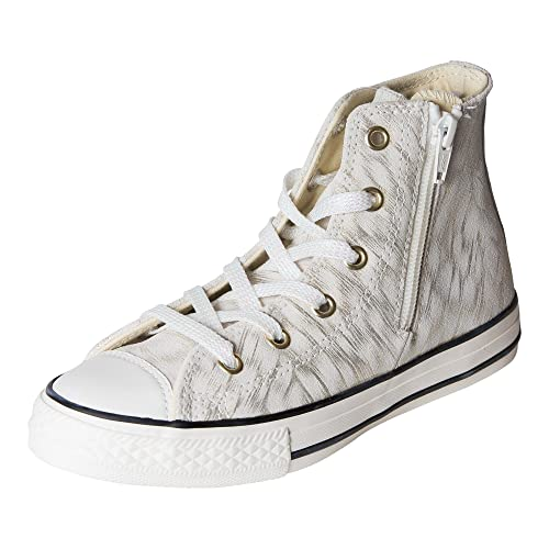 Converse Kids Chuck Taylor All Star Side Zip Hitop Gold  Shimmer Black White e55f7c67c