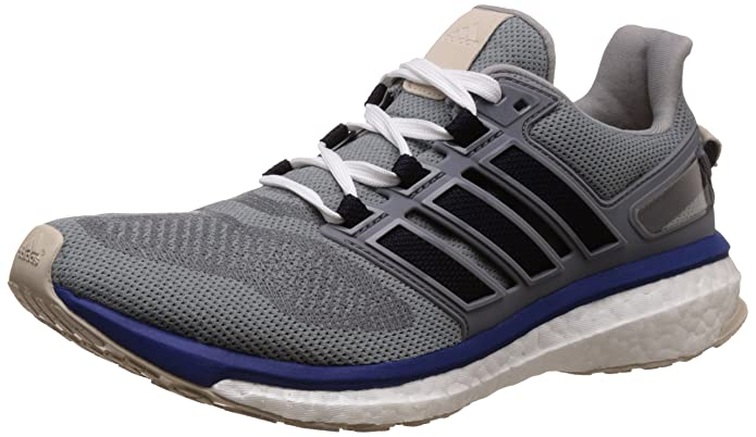 adidas Energy Boost 3, Chaussures de Running Homme, Gris (Mid Grey/Unity Ink/Vapour Green), 40 EU