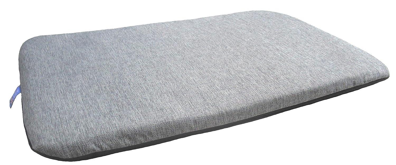 Grey Large 127 X 72 X 9cm Grey Large 127 X 72 X 9cm P & L Superior Pet Beds Pet Duvets Basket Weave Grey Size Large L127cm X W 72cm X D 9cm