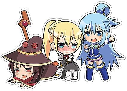 Amazon com: Konosuba - Aqua, Megumin, Darkness Chibi Anime
