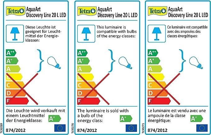 20 litros color antracita Tetra AquaArt Discovery Line incluye luz diurna y nocturna, filtro interior y bomba para acuarios, ideal para gambas Set completo de acuario con luz LED